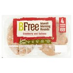 Clearance Line BFree Gluten Free Muesli Morning Rounds 4 x 70g **SHORT DATE 9/11/2019**