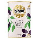 Clearance Line Biona Organic Black Beans in Water 400g ***SLIGHT DENT IN TINS - PRODUCT FINE***