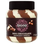 Clearance Line Biona Organic Duo Chocolate Hazelnut Spread 350g