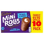Clearance Line Cadbury Chocolate Mini Rolls 10 pack