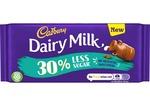 Clearance Line Cadbury Dairy Milk 30% Less Sugar 85g