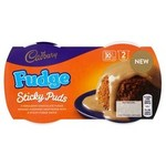 Clearance Line Cadbury Fudge Sticky Puds 2x95g