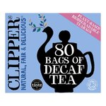 Clearance Line Clipper Organic Decaffeinated 80 Teabags ***DAMAGED BOX, PRODUCT FINE***