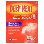 Clearance Line Deep Heat Patch 4 Pack