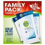Clearance Line Dettol Anti Bacterial Cleansing Wipes 252 per pack