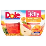 Clearance Line Dole Mixed Fruit in Peach Jelly 4x123g