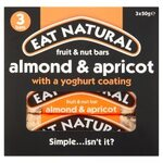 Clearance Line Eat Natural Gluten Free Almonds Apricots and Yoghurt Bars 3 Pack