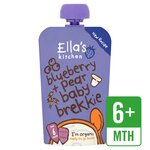 Clearance Line Ellas Kitchen Baby Brekkie Blueberry n Pear 100g