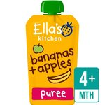 Clearance Line Ellas Kitchen Organic Apples and Bananas 120g 4 Months 5 Pack