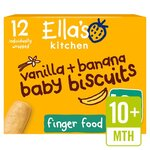 Clearance Line Ellas Kitchen Vanilla and Bananas Baby Biscuits 12 x 9g