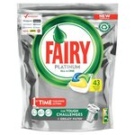 Clearance Line Fairy Platinum All In One Dishwasher Tablets Lemon 43 Pack