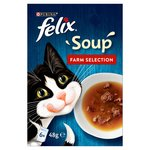 Clearance Line Felix Cat Soup Farm Selection 6 x 48g