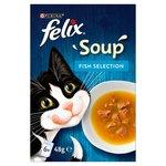 Clearance Line Felix Cat Soup Fish Selection 6 x 48g