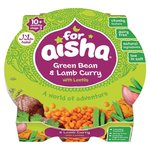 Clearance Line For Aisha Green Bean and Lamb Curry with Lentils 10 Month 190g