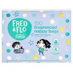 Clearance Line Fred and Flo Fragranced Nappy Bags 150pk