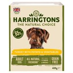 Clearance Line Harringtons Dog Food Grain Fre Turkey Potato and Vegetables 400g