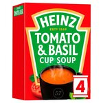 Clearance Line Heinz Cream of Tomato with a Hint of Basil Cup Soup 4 Sachets