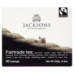 Clearance Line Jacksons of Piccadilly Fairtrade Tea 80 Teabags