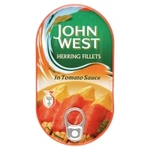 Clearance Line John West Herring Fillets in Tomato Sauce 160g