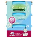 Clearance Line John West No Drain Fridge Pot Tuna Steak In Brine 3X110g