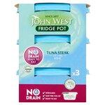 Clearance Line John West No Drain Fridge Pot Tuna Steak In Brine 3X110g