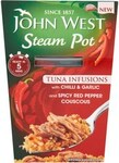 Clearance Line John West Steam Pot Chilli and Garlic 150g