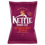 Clearance Line Kettle Ridge Cut Crisps BBQ Beef Brisket 135G