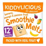 Clearance Line Kiddylicious Banana Mango and Passion Fruit Smoothie Melts 6g 12 Months