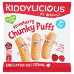 Clearance Line Kiddylicious Chunky Puffs Strawberry 12g
