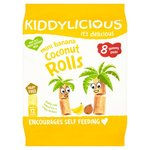 Clearance Line Kiddylicious Mini Banana Coconut Rolls 8 Pack