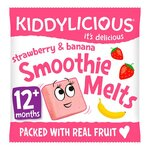 Clearance Line Kiddylicious Strawberry and Banana Smoothie Melts 6g 12 Months