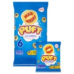 Clearance Line KP Hula Hoops Puft Salt and Vinegar 6 x 15g