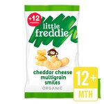 Clearance Line Little Freddie Cheddar Cheese Chickpea and Quinoa Smiles 4 x 11g