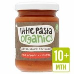 Clearance Line Little Pasta Organics Red Pepper and Ricotta Pasta Sauce 130g 10 Months
