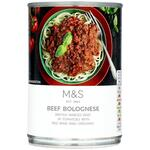 Clearance Line Marks and Spencer Beef Bolognese 400g ***DENTED TIN PRODUCT FINE***
