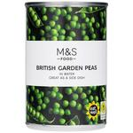 Clearance Line Marks and Spencer British Garden Peas in Water 300g ***DENTED TIN PRODUCT FINE***