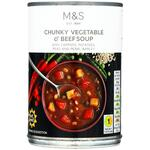 Clearance Line Marks and Spencer Chunky Vegetable and Beef Soup 400g ***DENTED TIN PRODUCT FINE***