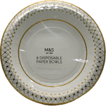 Clearance Line Marks and Spencer Disposable Paper Bowls 8 pack
