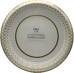 Clearance Line Marks and Spencer Disposable Paper Plates 8 pack