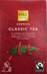 Clearance Line Marks and Spencer Festive Classic 40 Teabags