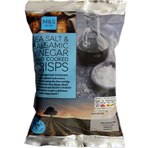 Clearance Line Marks and Spencer Handcooked Sea Salt and Balsamic Vinegar Crisps 40g.