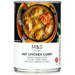 Clearance Line Marks and Spencer Hot Chicken Curry 400g **DENTED CAN PRODUCT FINE**
