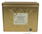 Clearance Line Marks and Spencer Luxury Gold Tea Tin 80 Teabags
