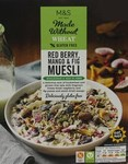 Clearance Line Marks and Spencer Made Without Wheat Red Berry Mango and Fig Muesli 360g
