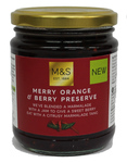 Clearance Line Marks and Spencer Merry Orange and Berry Preserve 340g