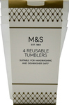 Clearance Line Marks and Spencer Reusable Tumblers 4 Pack