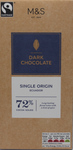 Clearance Line Marks and Spencer Single Origin Ecuador 72% Dark Chocolate Block 100g