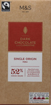 Clearance Line Marks and Spencer Single Origin Peru 52% Dark Chocolate with Clementine Block 100g