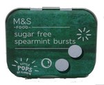 Clearance Line Marks and Spencer Sugar Free Spearmint Bursts 18g