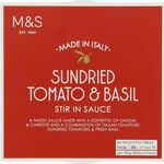 Clearance Line Marks and Spencer Sundried Tomato and Basil Stir In Sauce 150g